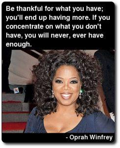 Oprah dankbaar